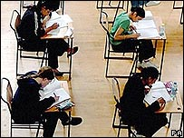 Students taking an exam (Photo: Rui Vieira/PA)
