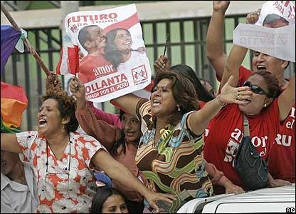 Partidarios de Ollanta Humala