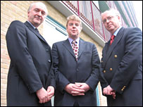 from the left Ian Jarritt, Prof Philip Molyneux, Prof John Struthers
