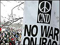 CND rally banner