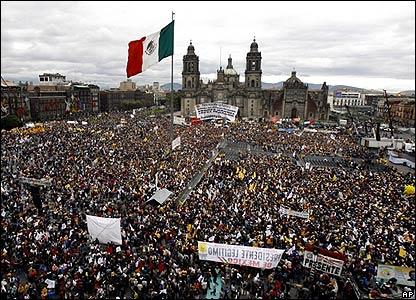 """Manifestación de comienzo del """"gobierno paralelo"""" de López Obrador"""