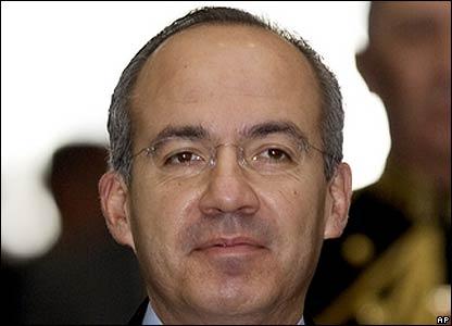 Felipe Calder�n, presidente de M�xico