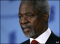 Outgoing UN Secretary General Kofi Annan