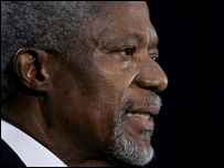 Outgoing UN Secretary General Kofi Annan