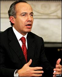 President-elect of Mexico, Felipe Calderon