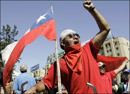 A flag-waving opponent of Gen Pinochet