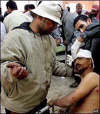 Baghdad bomb victim