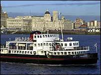 Ferry on River Mersey