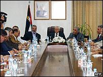 Mesa de diálogo entre las distintas facciones palestinas
