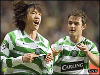 Shunsuke Nakamura was on target for Celtic