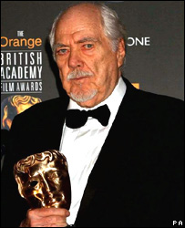 Robert Altman with BAFTA award
