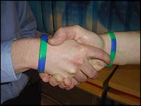 Old Firm unite with anti-sectarian wristbands
