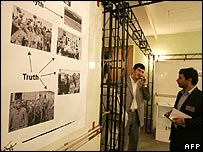 "Photo display about the Holocaust ""truth and myth"""