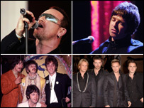 U2, Oasis, Westlife and The Beatles