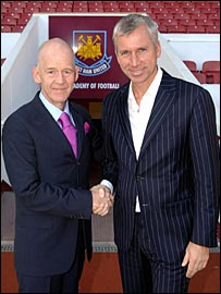 Eggert Magnusson and Alan Pardew