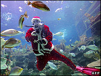 Underwater Father Christmas