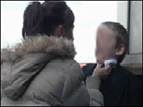 Pupil being bullied - picture posed by models