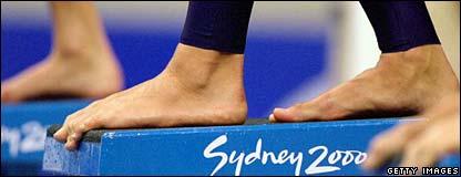 Ian Thorpe's feet