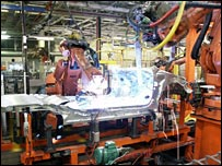 The body assembly area of the Ryton plant