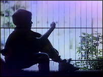 Child in silhouette