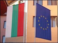 Bulgarian and EU flag