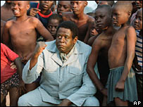 Forest Whitaker as Idi Amin in The Last King of Scotland