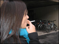Girl smoking