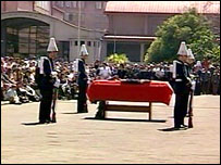 Funeral of General Augusto Pinochet in Santiago