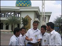 Pupils at Darunnajah Senior High School, Jakarta