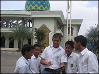 Pupils at Darunnajah Senior High School, Jakarta
