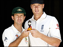 Rocky Ponting and Andrew Flintoff