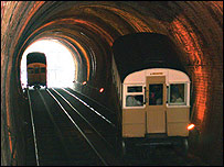 Inside the West Hill Cliff Railway