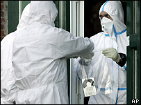 German investigators of the Federal Agency for Radiation Protection in Haselau, near Hamburg