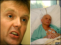 Alexander Litvinenko before (L) and after poisoning