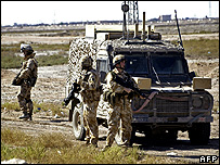 UK troops near Basra