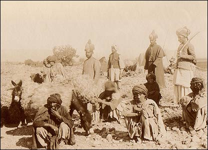 Captured Pashtun tribesmen