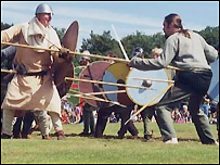 A Viking re-enactment in Wirral