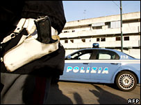 Police patrol in Naples (file picture)