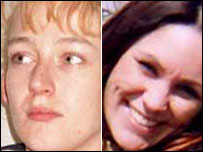 Missing women Paula Clennell (l) and Annette Nicholls