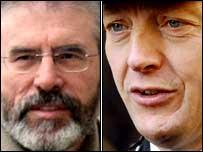 Gerry Adams and Hugh Orde