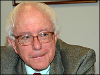Bernie Sanders, the incoming socialist senator from Vermont