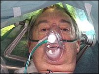 Trevor Burlton undergoing surgery