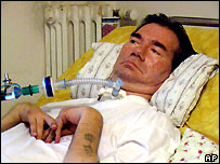 Piergiorgio Welby in hospital - file photo
