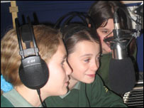 Emily, Olivia and Alice from Coombeshead College in Newton Abbot, Devon
