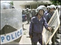 Police in Kinshasa