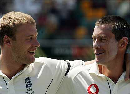 Andrew Flintoff and Ashley Giles