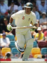 Ricky Ponting takes a quick single