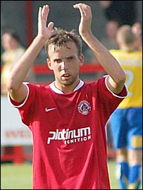 Crawley captain/manager Ben Judge - picture courtesy of Crawley Town FC