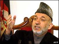 Hamid Karzai in Kandahar