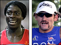 Christine Ohuruogu (left) and Tim Don